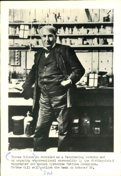 an analysis of thomas edison in edison a biography by matthew josephson Surprisingly, little al edison, who was the last of seven children in his family, did not learn to talk until he was almost four years of age immediately thereafter, he began p.