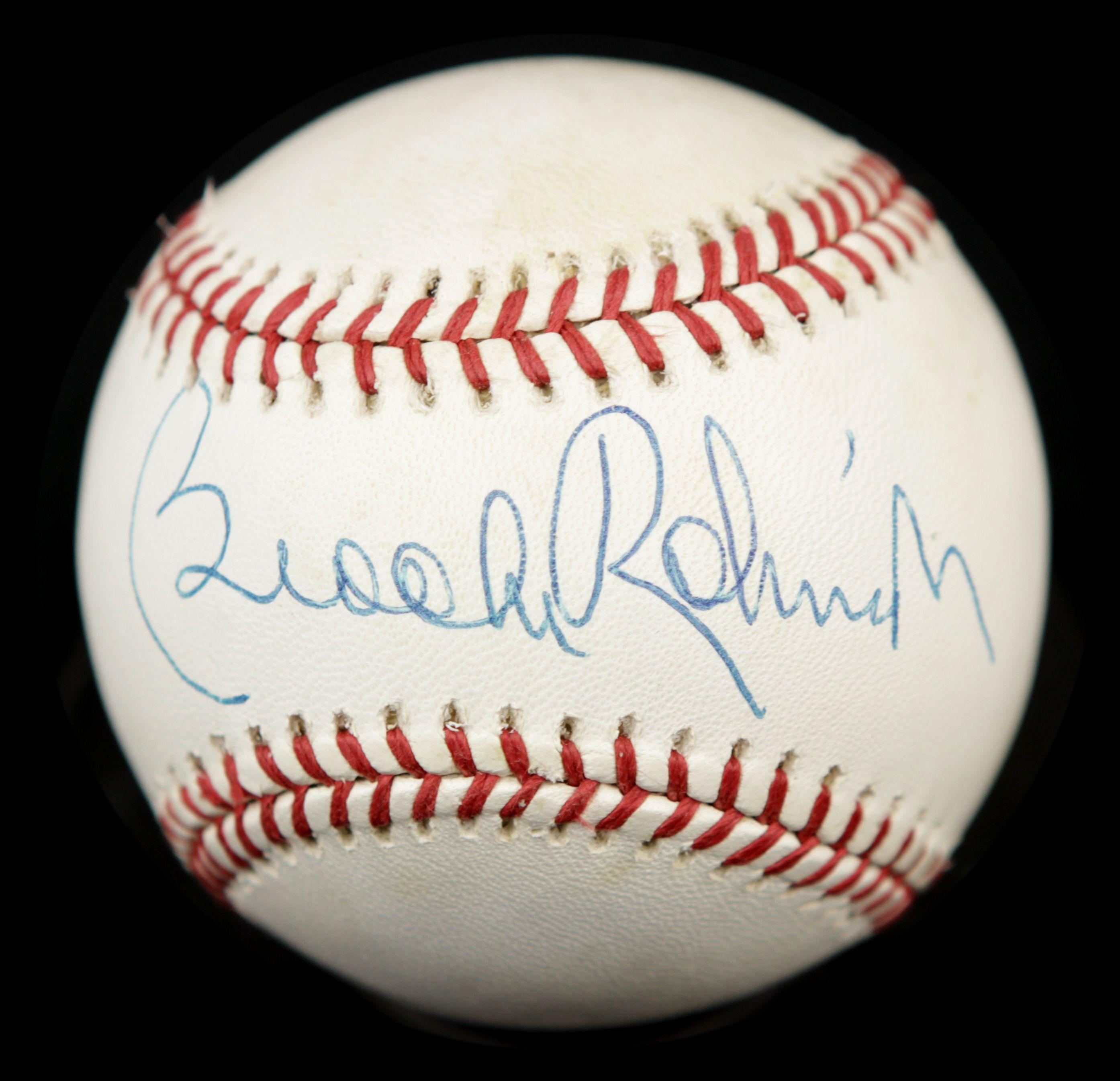 lot detail 1980s hall of fame single signed baseball. Black Bedroom Furniture Sets. Home Design Ideas