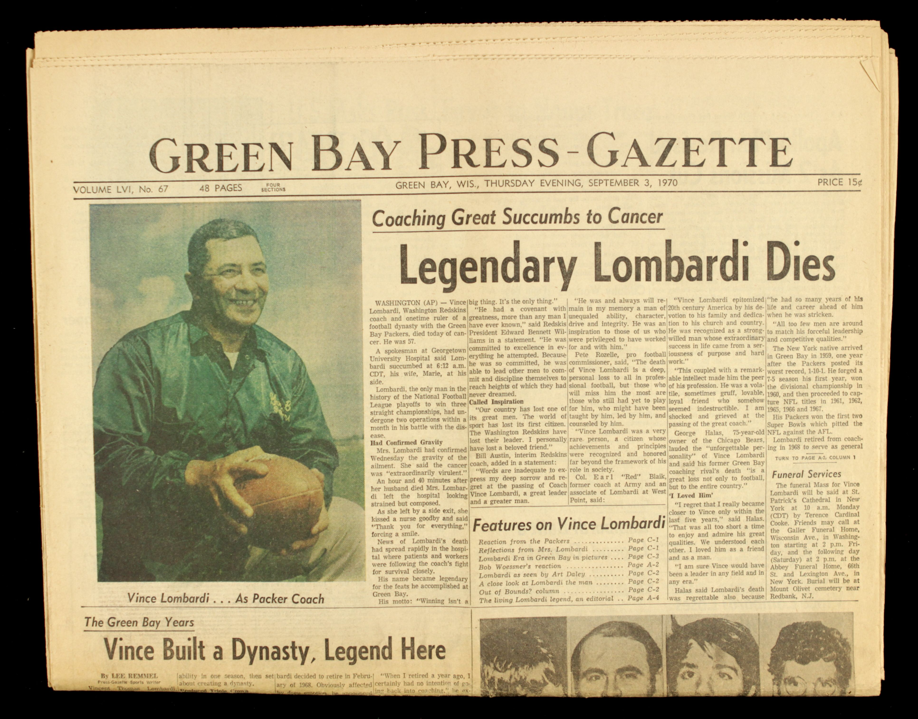 the life and early career of vincent lombardi Vince lombardi vincent thomas lombardi (butch) career passing yards, single season rush td, single game sacks nfl scores all-time scores, find a score.