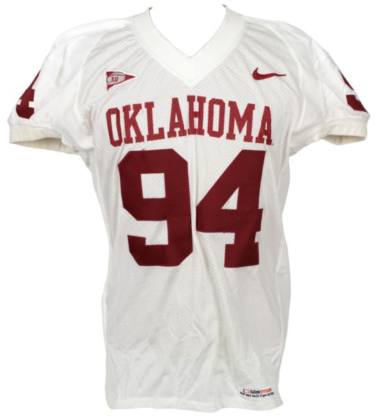 lot detail 2000s oklahoma sooners 94 game worn jersey mears loa. Black Bedroom Furniture Sets. Home Design Ideas
