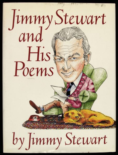1989 Jimmy Stewart and His Poems Signed Book - JSA