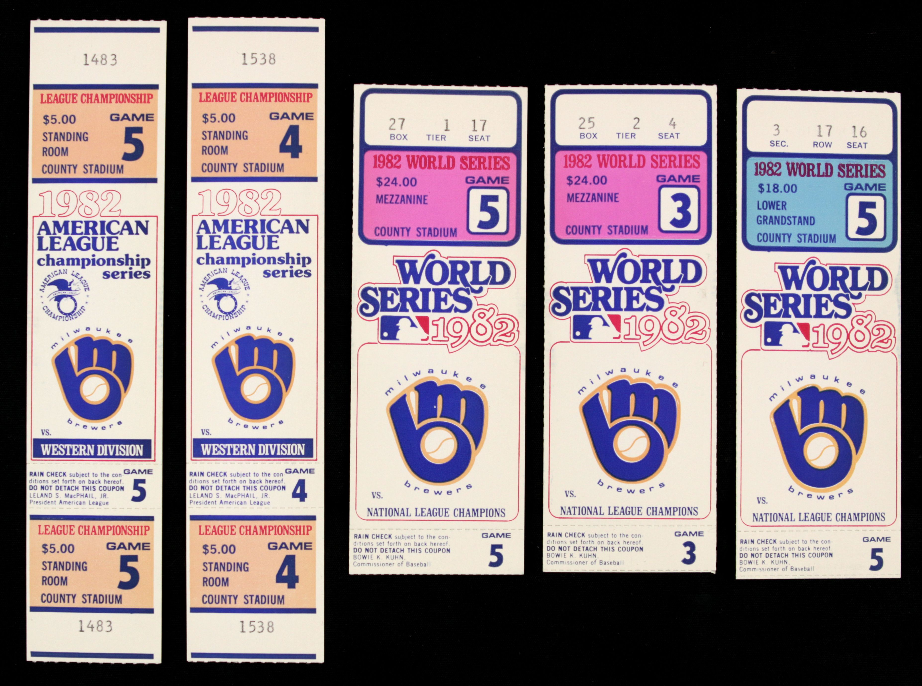 Lot Detail 1982 Milwaukee Brewers Full Alcs Ticket 2