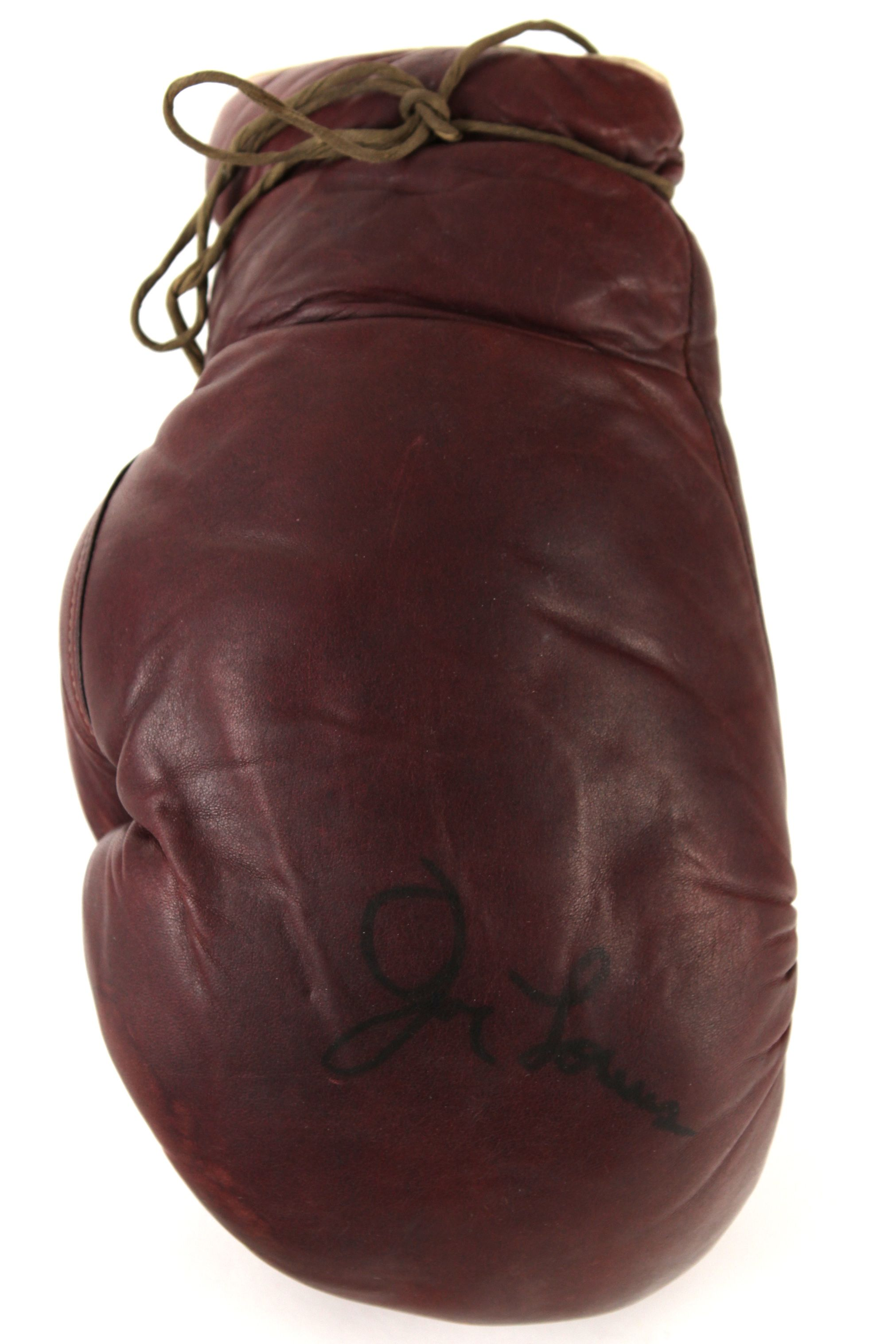 Barber Gloves : ... Signed Sparring Glove (MEARS LOA) Collection of Louiss Barber