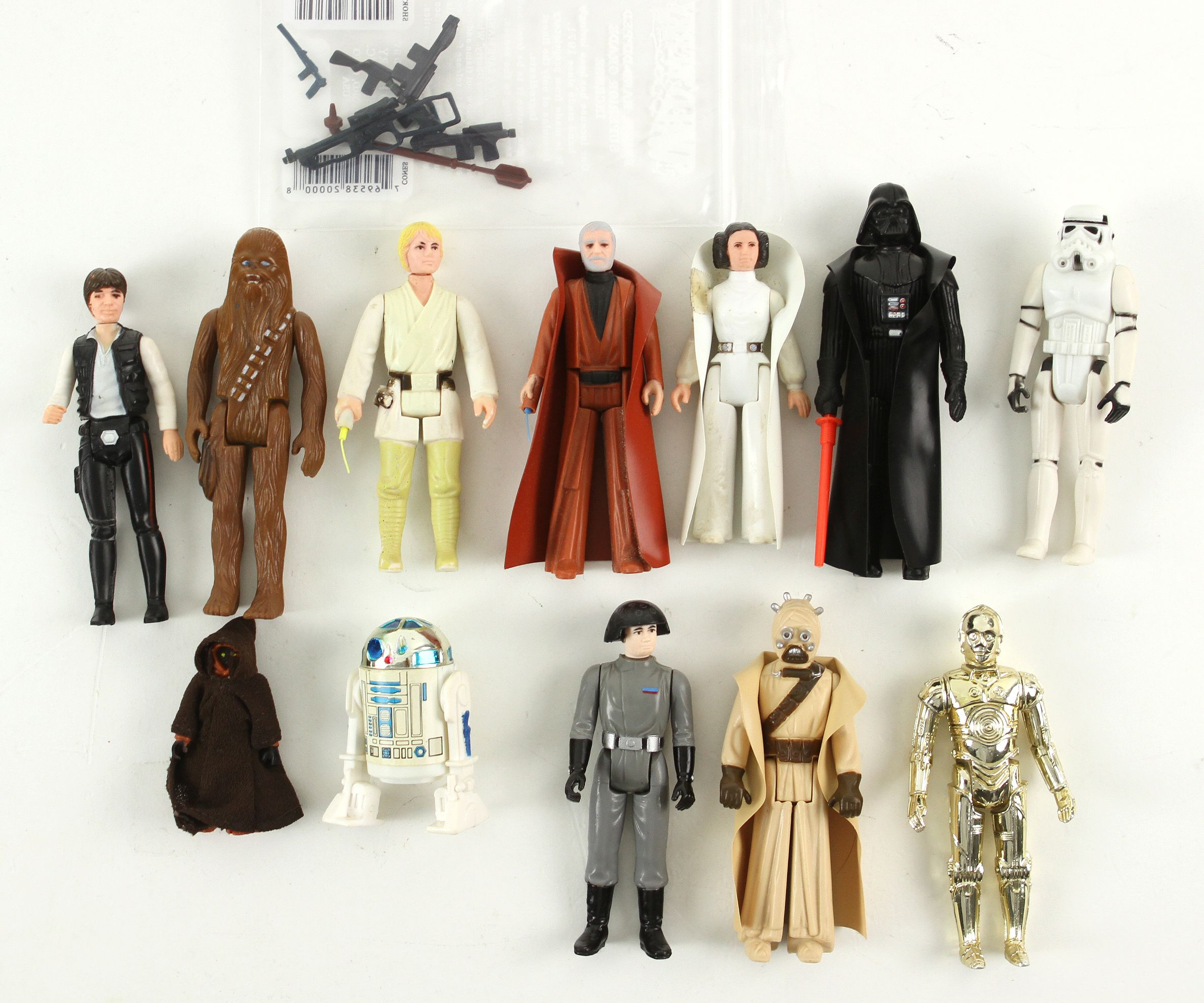 Lot Detail 1977 Kenner Star Wars First 12 Loose Action Figures