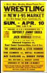 "1990s Wrestling Poster ""Superfly"" Jimmy Snuka vs. Jack Hammer 17"" x 26"""