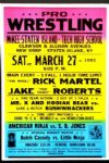 "1990s Wrestling Poster Rick Martel vs. Jake ""The Snake"" Roberts 17"" x 26"""