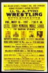 "1997 Wrestling Poster Superfly Snuka vs. Greg ""The Hammer"" Valentine 17"" x 26"""