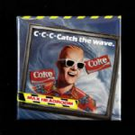 "1980s Max Headroom Coke Catch The Wave  Pinback Button 2 1/8"" x 2 1/8"""