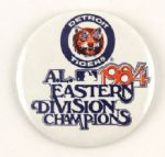 "1984 Detroit Tigers A.L. Eastern Division Champions 3 1/2"" Pinback Button"