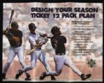 "1996 Milwaukee Brewers Season Ticket Order Form Pamphlet 3 5/8"" x 8 1/2"""