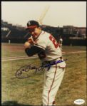 1953-61 Johnny Logan Milwaukee Braves Signed 8 x 10 Color Photo JSA Hologram
