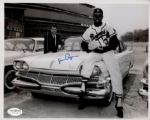 1957-60 Milwaukee Braves Juan Pizarro with Dodge Autographed 8x10 B/W Photo