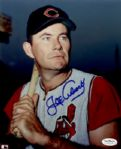 1950-52 Cleveland Indians Joe Adcock Autographed 8x10 Color Photo JSA (d. 1999)