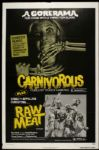 "1979 Carnivorous Raw Meat One Sheet (27"" x 41"") Original Movie Poster"