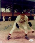 1954-58 Milwaukee Braves Gene Conley Autographed 8x10 Color Photo (JSA)