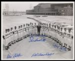 1960 Milwaukee Braves Group Signed (6) Autographed 8x10 B/W Photograph (JSA)