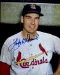 1955-62 St. Louis Cardinals Lindy McDaniel Autographed 8x10 Color Photo