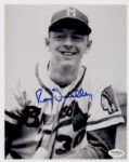 1954 Milwaukee Braves Roy Smalley Autographed 8x10 B/W Photo (JSA)