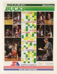 "1986-87 Milwaukee Bucks Schedule Poster 20"" x 25"""