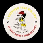 "1991 Walt Disney Imagineering Mickey Mouse 3"" Pinback Button"