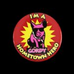 "1990 Im a Gordy Hometown Hero 2 1/8"" Pinback Button"