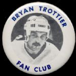 1984-85 New York Islanders Bryan Trottier Fan Club Button and Membership Card