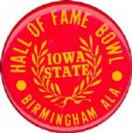 "1978 Iowa State vs. Texas A&M Hall of Fame Bowl 1 3/4"" celluloid pinback button"