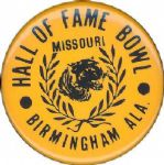 "1979 Missouri vs. South Carolina Hall of Fame Bowl 1 3/4"" pinback button"