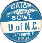 "1971 December 31st Georgia vs. University of North Carolina 1 3/4"" button"