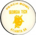 1971 Peach Bowl Pin Georgia Tech