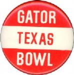"1974 December 30th Texas vs. Auburn Gator Bowl 1 3/4"" pinback button"