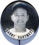 1930-40 Chicago Cubs Gabby Hartnett PM10 Pinback