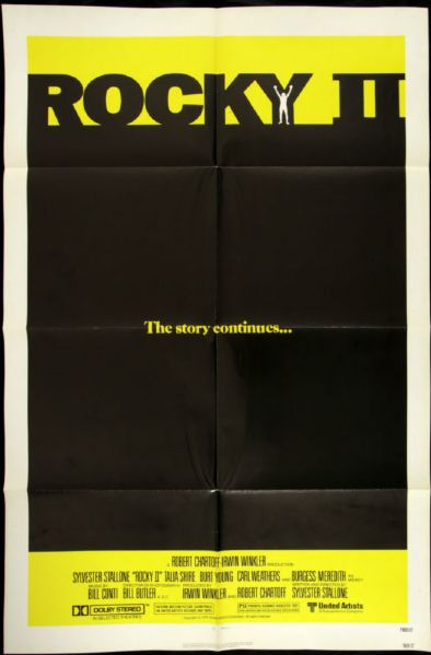 "1979 Rocky II 1-Sheet (27""x41"") Original Movie Poster  Sylvester Stallone"