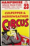 "1980s circa Culpepper and Merriweather Circus Posters Lot of 29 (11"" x 17"")"