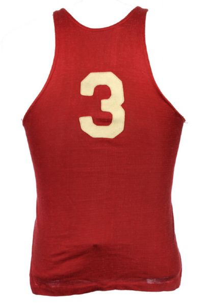 1930s-40s circa #3 Amco Made Durene Basketball Jersey & Satin Shorts (MEARS LOA)