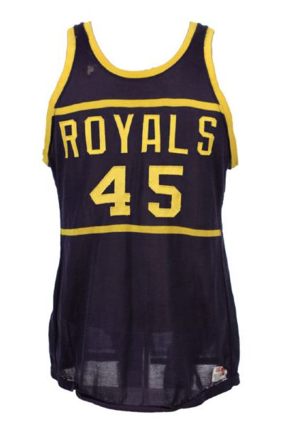 1967-72 Royals #45 Wilson Made Durene Basketball Jersey (MEARS LOA)
