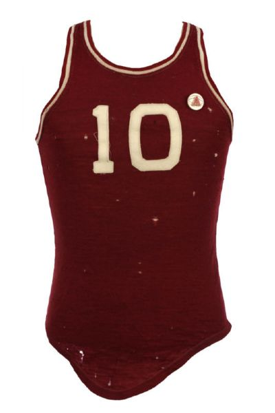 1940s #10 Lowe & Campbell Athletic Sporting Goods Co. Cotton Basketball Jersey