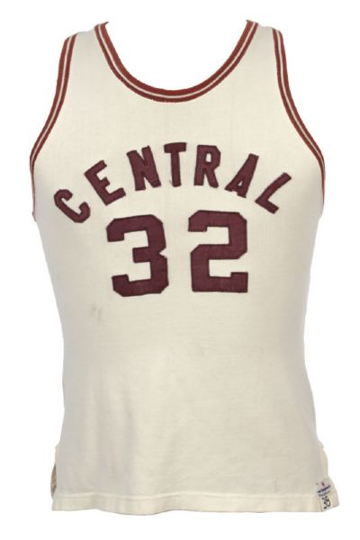 1940s #32 Badger Sporting Goods Central Basketball Jersey (MEARS LOA)