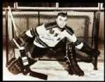1954-63 Gump Worsley New York Rangers Signed Autographed 8 x 10 Photo JSA HOF