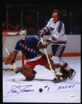 1967-75 Eddie Giacomin New York Rangers Signed Autographed Photo 8 x 10 HOF JSA