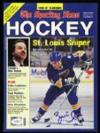 1990-91 Brett Hull St. Louis Blues Signed Sporting News Cover HOF JSA