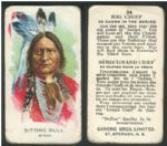 1920-30s Sitting Bull Ganong Chocolate New Brunswick Canada Indian chief