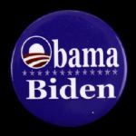 "2008 Barack Obama Joe Biden 2 1/8"" Presidential Campaign Pinback Button"