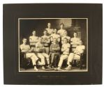 "1909 Indoor Baseball Team 16"" x 19"" Mounted Team Photo"