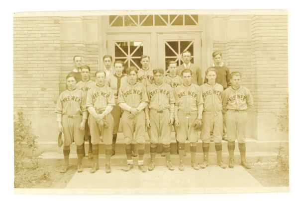 "1928 Brewer High School Baseball State Champions 11.5"" x 17.5"" Team Photo"