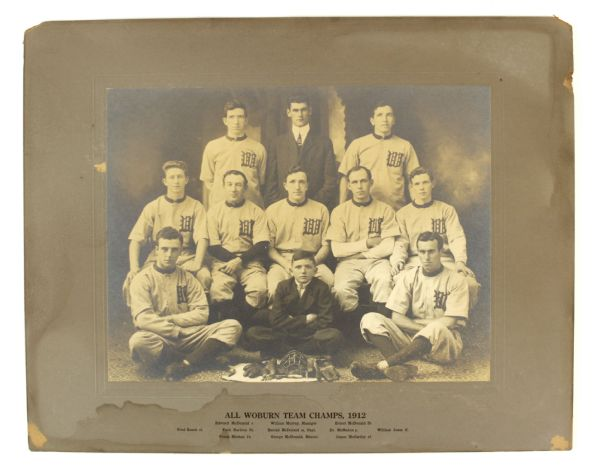 "1912 All Woburn Team Baseball Champs 16"" x 20"" Photo"