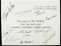 "Ally McBeal 5""x 7"" Cast Secretarial Signed Holiday Card"