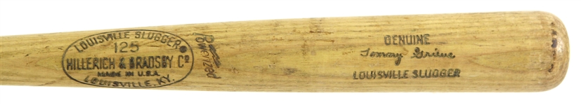 1970 Tommy Grieve Washington Senators H&B Louisville Slugger Professional Model Game Used Bat  (MEARS LOA)