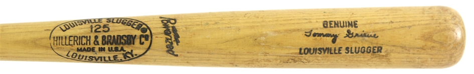 1967-69 Tommy Grieve Minor Leagues H&B Louisville Slugger Professional Model Game Used Bat (MEARS LOA)