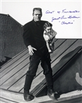 1942 Janet Ann Gallow Ghost of Frankenstein (Frankenstein carrying Cloestine) Signed LE 16x20 B&W Photo (JSA)